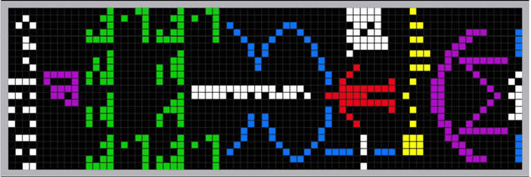 Active SETI Arecibo Message By Pengo (based on public information) [GFDL (http://www.gnu.org/copyleft/fdl.html), CC-BY-SA-3.0 (http://creativecommons.org/licenses/by-sa/3.0/) or CC BY-SA 2.5-2.0-1.0 (http://creativecommons.org/licenses/by-sa/2.5-2.0-1.0)], via Wikimedia Commons