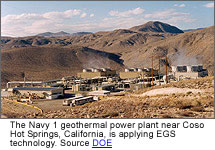 geothermal power plant in Coso Hot Springs California